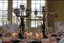 Weddings - table + place settings/table numbers