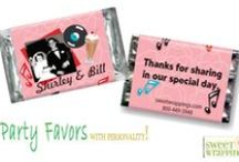 Miniature Party Messages / Add some FUN! to any event, party, or holiday occasion with a custom Mini Message wrapped around assorted Hershey Miniatures.
