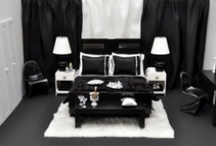 Black & White Designs / Love black and white? Check out these ideas to turn your loft into a monochrome dream!