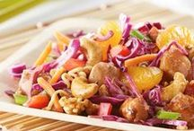 Salads / Making a great salad is as easy as tossing together flavorful ingredients. Make one of these simple dishes and you've got a hearty lunch-on-the-go, a light dinner (maybe even a picnic?), or a beautiful potluck dish to share with friends.