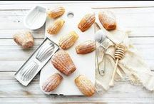 """Madeleines / """"No sooner had the warm liquid mixed with the crumbs touched my palate than a shudder ran through me and I stopped, intent upon the extraordinary thing that was happening to me. An exquisite pleasure had invaded my senses, something isolated, detached, with no suggestion of its origin.""""  Delicious french madeleine cakes"""