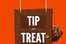 Tip or Treat / Choose a door — if you dare! — and knock to see if you find a tip or a sweet Halloween treat.