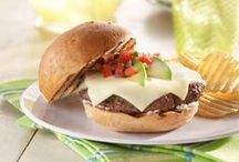 Burger Recipes / A collection of our favorite juicy burgers topped with deli cheese. Fire up the grill and get ready to prepare our favorite burger recipes.