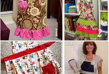 Aprons ,pot holders & towels / by Susan