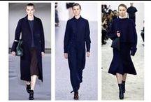 Fall Fashion Runways / Atto / Blue coat