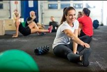 Stretch / Our classes consist of stretches, HIIT, kicks, punches and partner drills.