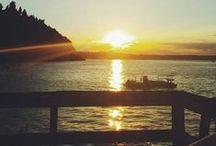 Sunrise//Sunsets On Vashon Island / the PNW has the most beautiful sunsets, especially around the summertime on Vashon!