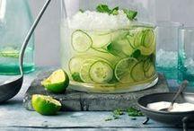 Drinks non alcoholic / Sommergetränke mit Früchten oder Gemüse alkoholfrei