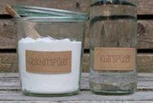 Homemade Haushalt / Einfache ökologisch verträgliche Zutaten, Waschmittel, Putzmittel selber machen ohne Plastikverpackung