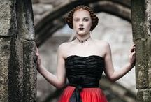 Seven Deadly Sins / Credits:  Photography : Sarah Mason Hair : Zeitgeist Team Jewellery : Rachel Lucie Jewellery Designs Headgear and other accessories : Chrissie @ Hat Therapy Body art : Clare Lupino Make-up : Allison Wilcox Styling : Zeitgeist Team Models : Kim, Florence, Hannah, Molly, Kate, Erin, Conny, Ethan Location : Heptonstall Church & ruins