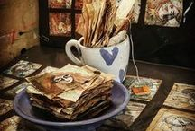 Teabag girls - Pippi / my 2016 Challenge - 365 faces - a face a day - on teabags - teabag art - teabags ~ http://www.joycevanderlely.com ~