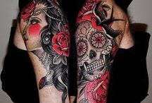 sugar skull/DOTD tatt ideas