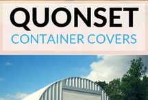 Steel Shipping Container Covers / Convert your existing shipping containers into functional and secure working areas such as covered workshops, heavy equipment storage units, on-site offices and more.