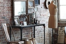 Industrial Style Decor / Industrial and vintage industrial interior decor.