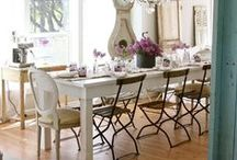 Dining Chairs / Ideas for using mismatched chairs or refurbished chairs in the dining room.
