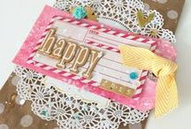 Scrapbook Pages and Embellishments / Handmade flowers, embellishments and scrapbook pages that are just beautiful to look at.