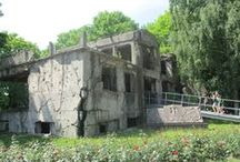 Danzig/ Gdansk/ Westerplatte/ Polen/ Poland / Ruinen/ Gedenkstätte der polnischen Verteidiger der Westerplatte