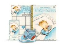 Vintage Baby Shower / Ideas for planning the perfect baby shower with a vintage theme, from ABC flash card-style invitations to Little Golden Books.