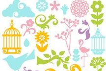 Die Cuts / Ideas for die cuts for electronic die-cutting machines, such as Silhouette and Cricut.