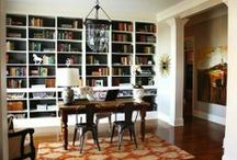 Living Room Turned Home Office / Some of us simply are tired of having a living room that no one ever uses. These are ideas for turning a living room into a home office.