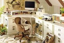 Home Office Decor / Here are some fabulous ideas for decorating a home office.