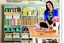 Craft Room Decor / Tons of inspiration for creating a room dedicated to crafting.