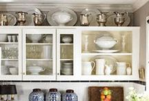 Decorating Above Kitchen Cabinets / It's time to get rid of the clutter above the kitchen cabinets and get inspired by some of these examples on how to decorate in those hard-to-reach places.