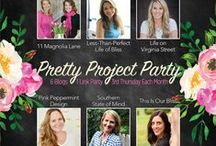 Pretty Project Party / This board features the best of crafts, decorating, DIY, printables and fashion.  Curated by the six  blogs that host the monthly Pretty Project link party on the third Thursday of each month.   / by Christy @ 11 Magnolia Lane