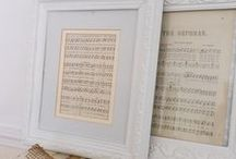 Sheet Music Decor / Examples of how to incorporate sheet music into your home decor.