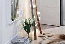 String Lights / Using string lights to decorate your house - not just at Christmas but all year round.
