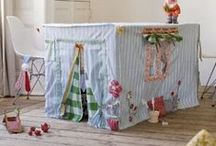Tablecloth Playhouses / Forts / My kid is all grown up but I cannot resist these adorable forts and playhouses that you can put over a card table for the little ones.