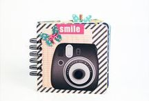 Camera Mini Albums / There's just something irresistible about a mini scrapbook album with a camera on the cover or in the shape of a camera. Look here for inspiration.