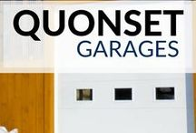 Garage Storage Ideas / Need a #garage to store that hot rod? We have a solution for you. You can design and build your own DIY Quonset Hut Kit. garages | steel garages | quonset hut garages | garage storage | garage storage ideas | garages with living quarters | garages and tools | garage shelves