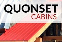 Quonset Hut Cabins / Looking to get away! Don't spend a fortune on renting a cabin, you can build your own #diy Steelmaster #cabin. cabin | cabin in the woods | cabins and cottages | cabins and tiny houses | cabins plans | cabins in the mountains