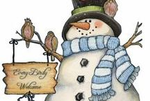 Art & Illustration: Snowpeople / Snow people for crafts, decorating, gifts... / by Sherrie Shaffer