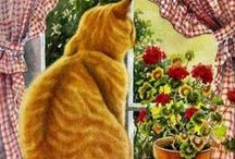 Art & Illustration: Cats~Dogs / Clip art, paintings, drawings, anything with cats/dogs or kittens/puppies on it that I think is cute or find inspirational.  / by Sherrie Shaffer