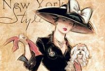 Art & Illustration: Ladies Fashion / Illustrations, art, drawings, sketches of women in various fashion and styles. / by Sherrie Shaffer