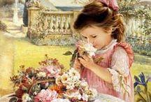 Art & Illustration: Children / Children in artwork by various artists. / by Sherrie Shaffer