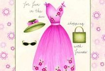 Art & Illustration: Clothes~Shoes / Prints, pictures, art, anything cute or pretty pertaining to women's clothes and shoes. / by Sherrie Shaffer