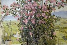 Gardens and Parks / Enjoying a garden or park delights our senses. On this board we highlight several artworks that address garden and park scenes in photographs, drawings and paintings.