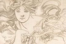 Alphonse Mucha / On this board we highlight artworks of Alphonse Mucha (1860-1939), a  Czech painter and decorative artist. He is considered one of the most outstanding representatives of Art Nouveau.
