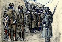 WW1 and Trench Life / On this board we highlight drawings and paintings created by soldiers who fought in World War 1. More of these war impressions can be found on europeana1914-1918.eu. / by Europeana