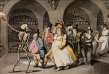 Dance of Death / Dance of Death also known as Danse macabre represents the influence and power of death on the lives of people. On this board we highlight coloured aquatint by T. Rowlandson, 1816.
