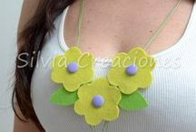 By Silvia Lorena / Felt Necklace  collares de Fieltro