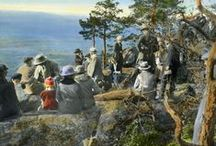 Anders Beer Wilse / On this board we highlight hand-coloured sildes by the  Norwegian photographer Anders Beer Wilse (1865-1949). His photography visually documented Norway in the early to mid-20th century. More photographs can be found on our portal www.europeana.eu.