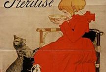 Théophile Steinlen / On this board we highlight works by the French artist Théophile Alexandre Steinlen (1859-1923). He is known for his poster designs in the style Art Nouveau. More works can be found on our portal www.europeana.eu.