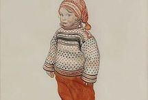 Carl Larsson / On this board we highlight artworks by the Swedish painter Carl Larsson (1853-1919) who was a representative of the Arts and Crafts Movement. More images can be found on www.europeana.eu.
