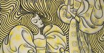 Jan Toorop / On this board we highlight works by the Dutch painter Jan Toorop (1858-1928), born in Java who worked variously in Impressionist, Symbolist and Art Nouveau styles. More works can be found on our portal www.europeana.eu.