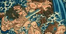 Utagawa Kuniyoshi / On this board we highlight drawings by Utagawa Kuniyoshi (1798-1861) one of the last great masters of the Japanese ukiyo-e style of woodblock prints and painting. More drawings can be found on www.europeana.eu.