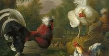 Chickens / On this board, we highlight artworks displaying roosters and hens and chicks. More artworks ca  be found on www.europeana.eu.